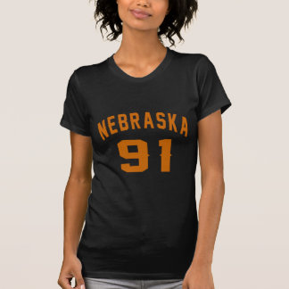 Nebraska 91 Birthday Designs T-Shirt