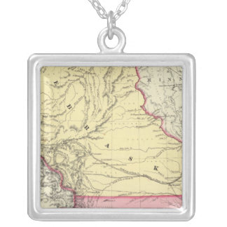 Nebraska And Kanzas Silver Plated Necklace