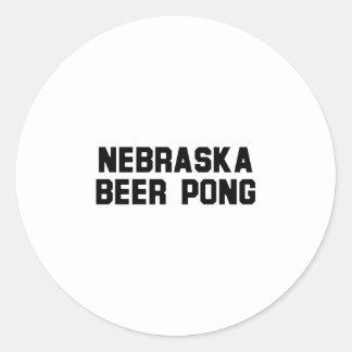 Nebraska Beer Pong Sticker