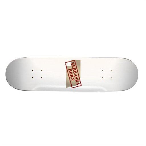 Nebraska Born - Stamp on Map Skate Board Deck
