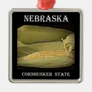 Nebraska Cornhusker State Metal Ornament