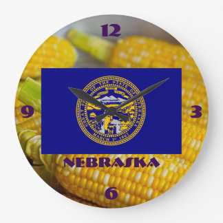 Nebraska Corny Wall Clock