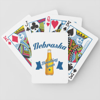 Nebraska Drinking team Bicycle Playing Cards