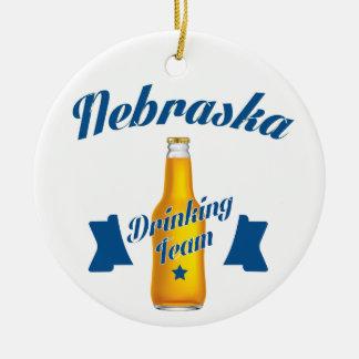 Nebraska Drinking team Ceramic Ornament