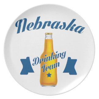 Nebraska Drinking team Plate