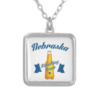 Nebraska Drinking team Silver Plated Necklace