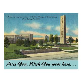 Nebraska, Father Flanagans Boys Town Postcard