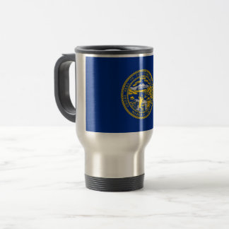 Nebraska Flag Travel Mug
