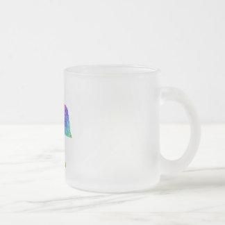 Nebraska Frosted Glass Coffee Mug