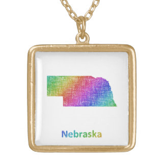 Nebraska Gold Plated Necklace