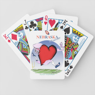 nebraska head heart, tony fernandes bicycle playing cards