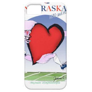 nebraska head heart, tony fernandes iPhone 5 cover