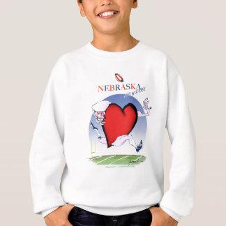 nebraska head heart, tony fernandes sweatshirt