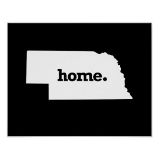 NEBRASKA HOME STATE -.png Poster