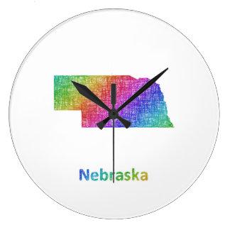 Nebraska Large Clock