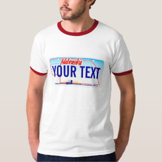 Nebraska license plate T-Shirt