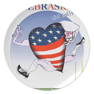 nebraska loud and proud, tony fernandes plate
