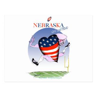 nebraska loud and proud, tony fernandes postcard
