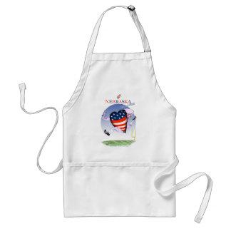 nebraska loud and proud, tony fernandes standard apron