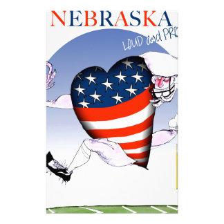 nebraska loud and proud, tony fernandes stationery