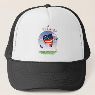 nebraska loud and proud, tony fernandes trucker hat