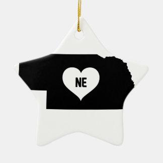 Nebraska Love Ceramic Ornament