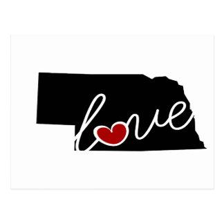 Nebraska Love!  Gifts for NE Lovers Postcard