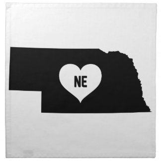 Nebraska Love Napkin