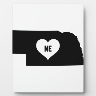Nebraska Love Plaque