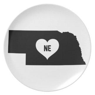 Nebraska Love Plate