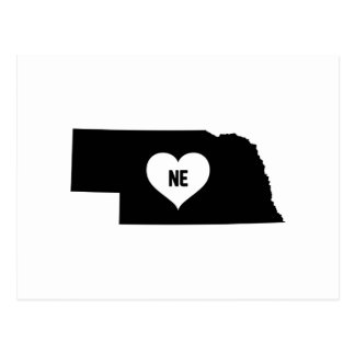 Nebraska Love Postcard