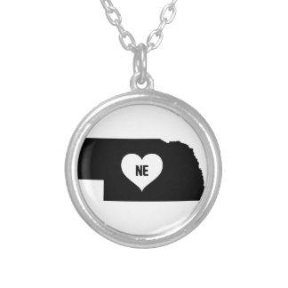 Nebraska Love Silver Plated Necklace