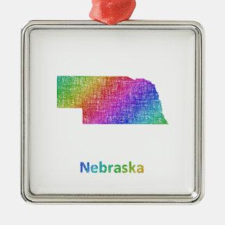 Nebraska Metal Ornament