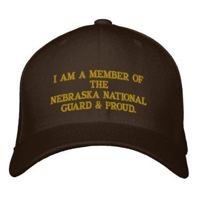 Nebraska National Guard Embroidered Baseball Cap