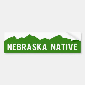 Nebraska Native - Colorado Mountains Sticker Bumper Sticker