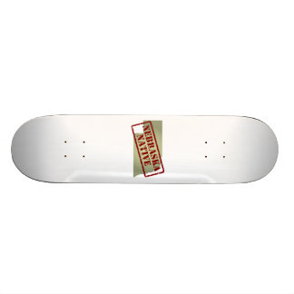 Nebraska Native Stamped on Map Skateboard