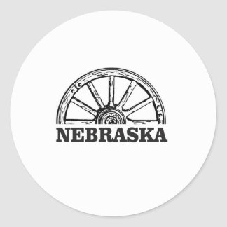 nebraska pioneer classic round sticker