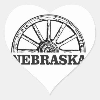 nebraska pioneer heart sticker