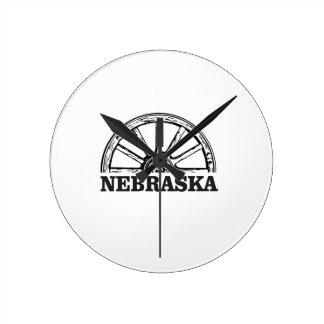 nebraska pioneer round clock