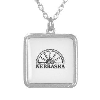 nebraska pioneer silver plated necklace