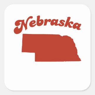 NEBRASKA Red State Stickers