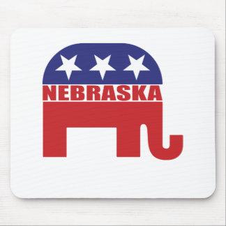 Nebraska Republican Elephant Mouse Pad