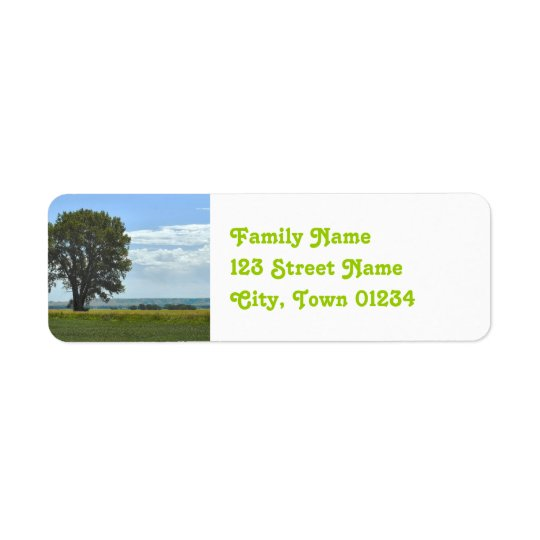 Nebraska Return Address Label