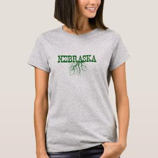 Nebraska Roots Green Word Art Women's T-Shirt