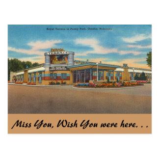 Nebraska, Royal Terrace, Peony Park, Omaha Postcard