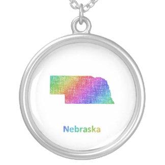 Nebraska Silver Plated Necklace