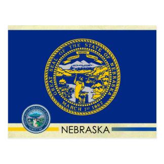 Nebraska State Flag and Seal Postcard
