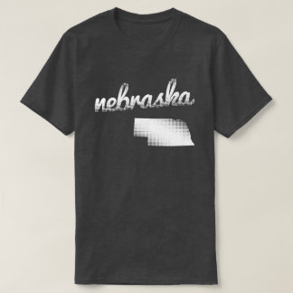 Nebraska state in white T-Shirt