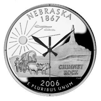 Nebraska State Quarter Clock