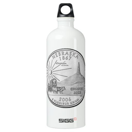 Water Bottle Quarter Prank: Nebraska State Quarter SIGG Traveler 1.0L Water Bottle